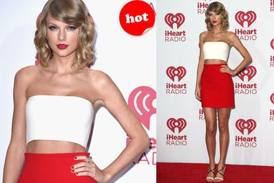 Taylor nailed it in a midriff.