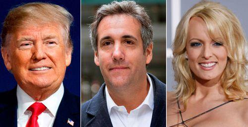 Donald Trump, Michael Cohen and Stormy Daniels. (Photos: AP).