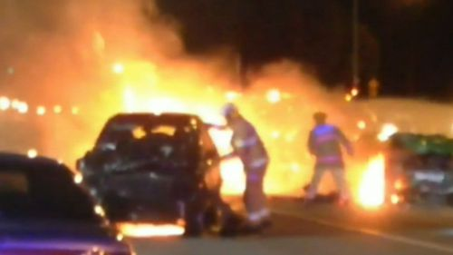 An innocent driver has died after his car was hit by a stolen ute while he was sitting at a red light. (9NEWS)