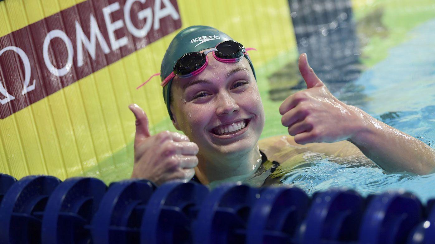 Australian teenager Minna Atherton breaks backstroke record