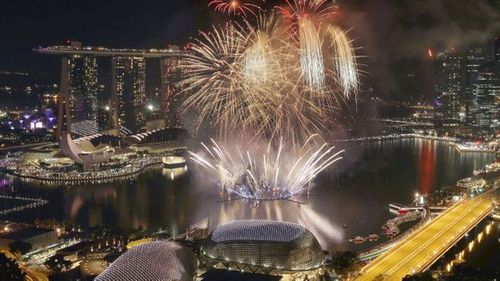 Singapore ushers in the new year in style.