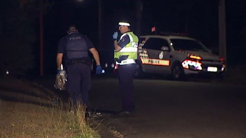 The man was hit just before 8.20pm. (9NEWS)