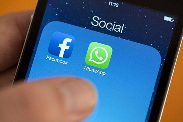 Facebook, WhatsApp logos