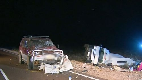 One person is dead and another is fighting for their life after the horror smash in South Australia's far north. (9NEWS)