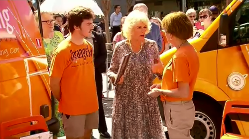 Camilla put her hand up to be the first volunteer for a future Orange Sky UK branch.