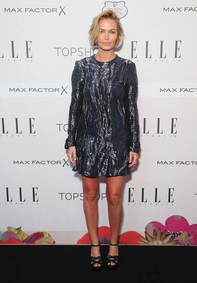 Lara Worthington at the ELLE Style Awards in Sydney, October, 2015