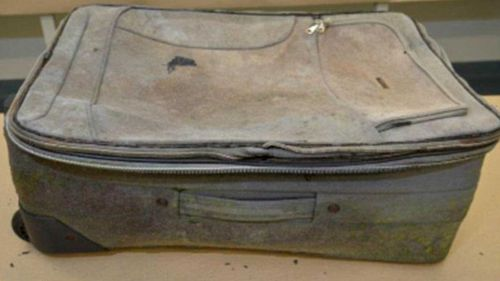 The suitcase in which the girl's body was found. (SA Police)
