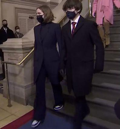Maisy Biden wearing Nikes