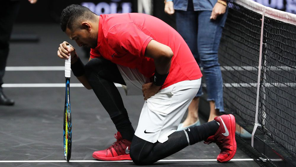 Tennis news: Australia's Nick Kyrgios takes a knee but denies protest at Laver Cup