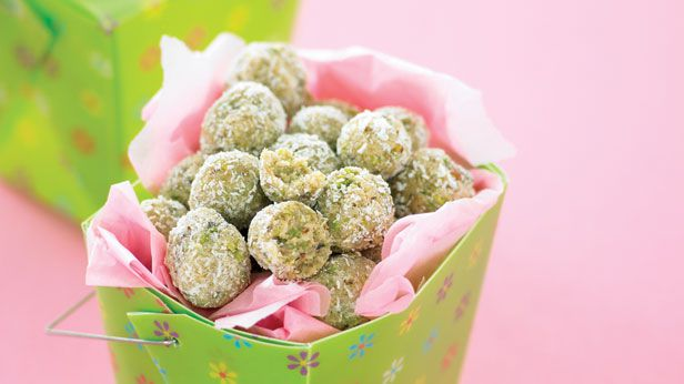 Coconut and pistachio balls