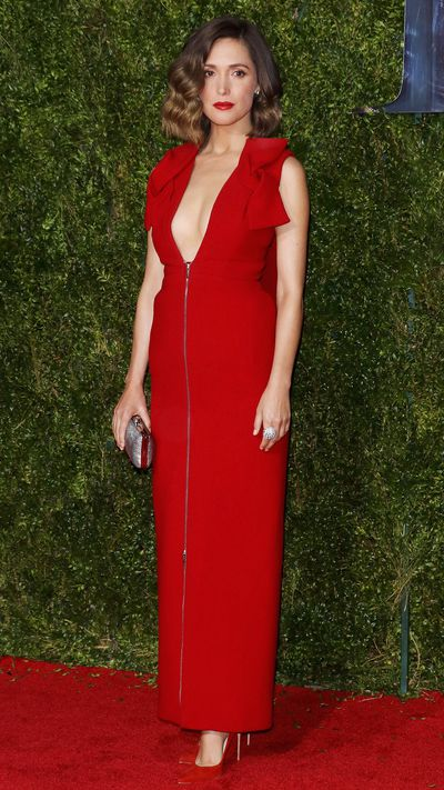 <p>Rose Byrne in Delpozo at the Tony Awards.</p>