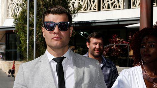 Dane Marsden Cordner leaves Newcastle Local Court in Newcastle