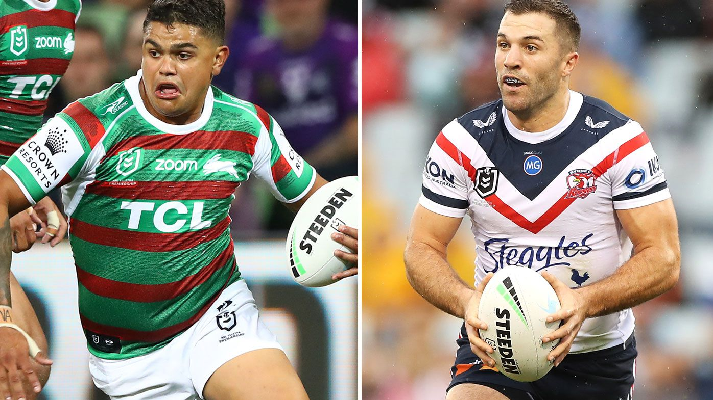 Damien Cook says Latrell Mitchell is a better fullback than James Tedesco. (Getty)