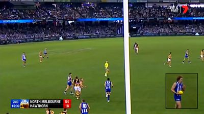 Battered North Melbourne Kangaroos hold off Hawthorn Hawks at Etihad Stadium