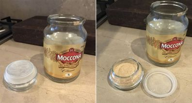 Dad S Brilliant Coffee Jar Hack Turns Empty Recycling Into Clever On The Go Food Storage 9homes
