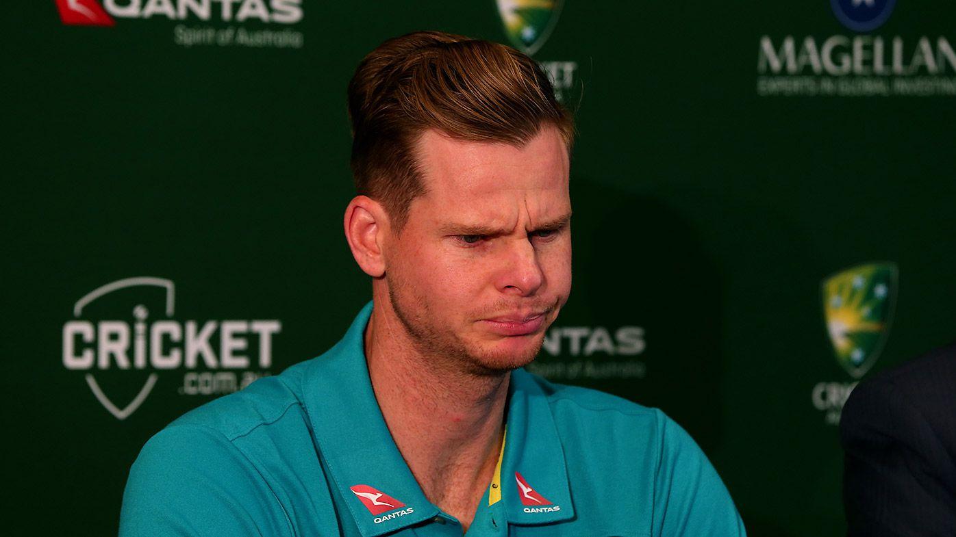 Australian Test captain Steve Smith speaks to the media
