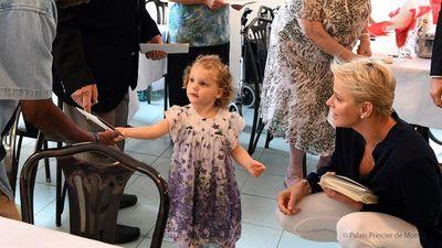 Princess Charlene of Monaco with her twins <div></div>