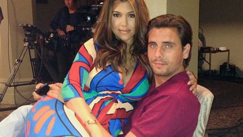 Kourtney Kardashian's baby daddy cosies up with 'hot blonde' at casino