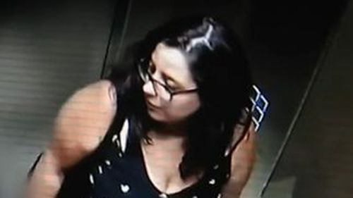 Detectives released CCTV of Ms Baker in a lift prior to her disappearance.