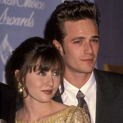 Shannen Doherty and Luke Perry 18th Annual People's Choice Awards in 1992.