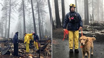 A deadly wildfire is nearly contained after several days of rain in Northern California, as volunteers continue to comb the rubble for signs of human remains.
