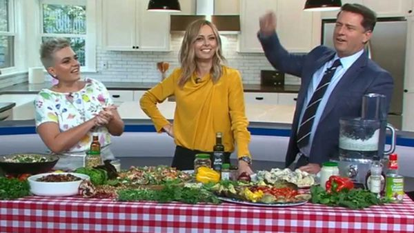 Jane de Graaff, Ali Langdon and Karl Stefanovic go head-to-head on salads