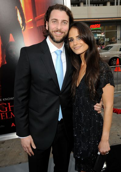 """Producer Andrew Form and actress Jordana Brewster arrive at the Los Angeles premiere of """"A Nightmare On Elm Street"""" held at Grauman's Chinese Theatre on April 27, 2010 in Hollywood, California."""