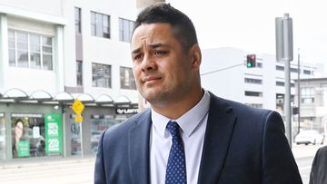 Former NRL star Jarryd Hayne gave evidence for the second day today.