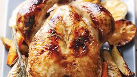 Roast chicken with lemon
