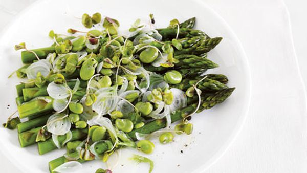 Asparagus and broad beans and sauvignon blanc