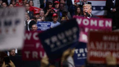 Donald Trump speaks in Nashville, Tennessee. (AAP)