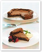 Flourless chocolate dessert cake