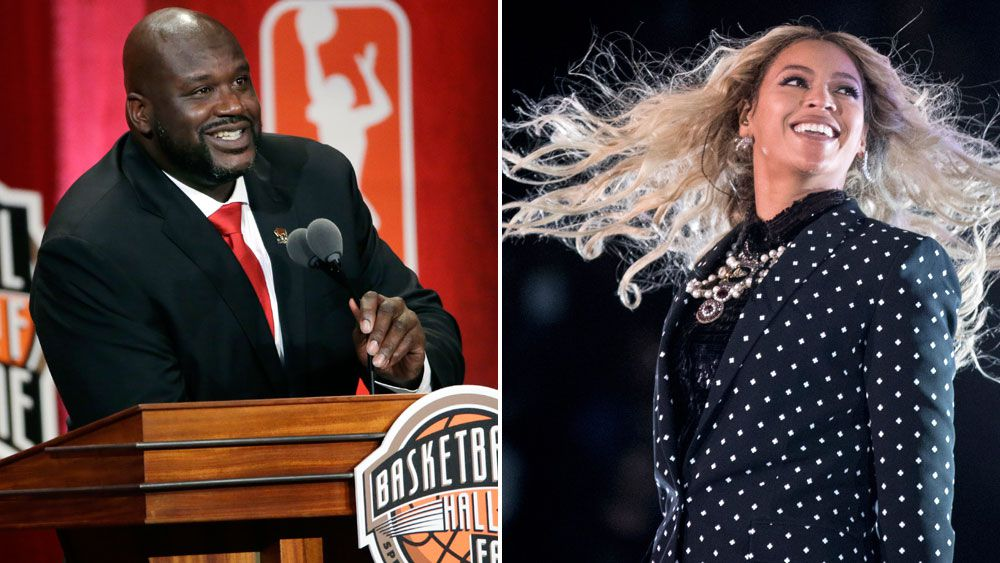 Shaq masters lip synching to a Beyonce classic