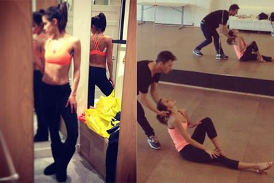 We're seeing a lot of Rhiannon in her Dancing With The Stars training gear. And we like it!