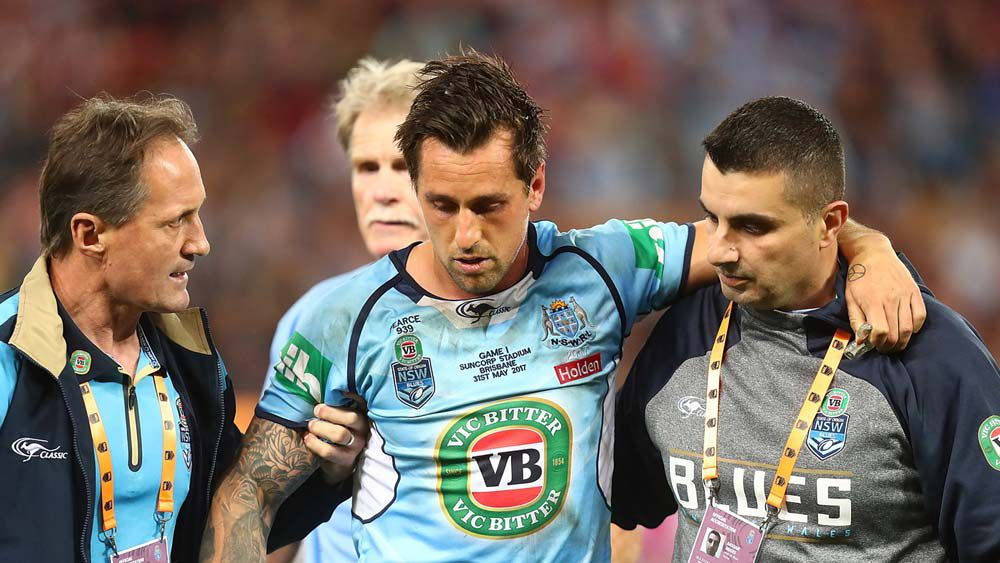 State of Origin: Mitchell Pearce and Anthony Milford leave field after huge collisions