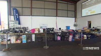 Weird and wonderful lost property up for grabs in Brisbane airport auction
