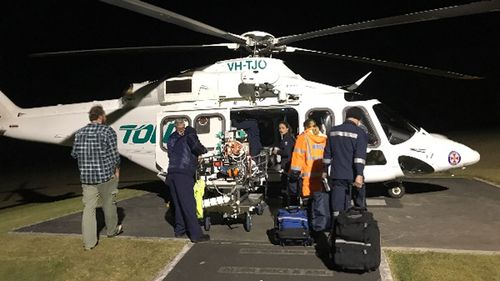 Brock was airlifted to the Sydney Children's Hospital in Randwick.
