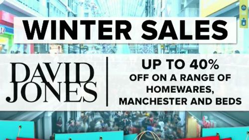 David Jones is offering up to 40 percent off a range of homewares, manchester and bedding. (9NEWS)