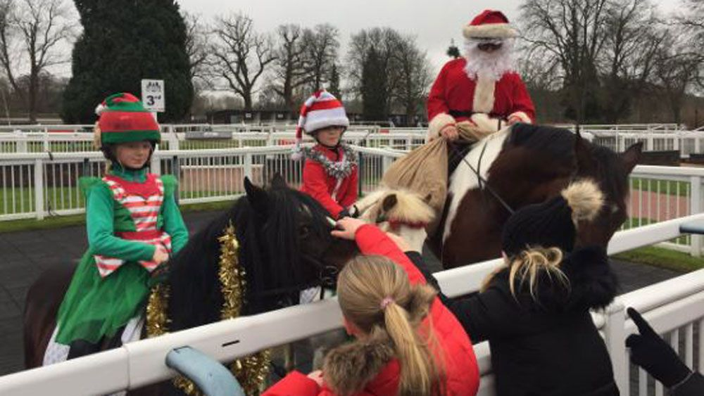 Santa Claus in hot water with stewards after unauthorised visit to Lingfield Park