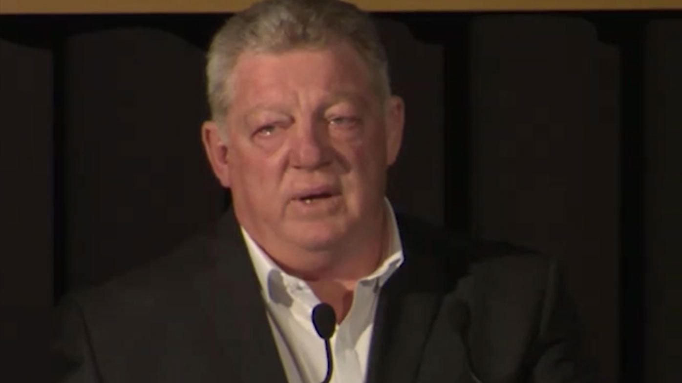 Phil Gould breaks down during emotional farewell speech to departing Panthers stars