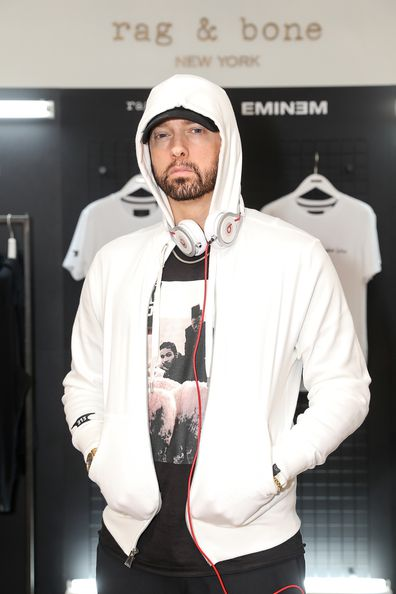 Eminem attends the rag & bone X Eminem London Pop-Up Opening on July 13, 2018 in London, England.