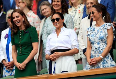 The story behind this photo of Meghan, Kate and Pippa sharing a laugh is incredibly sweet.
