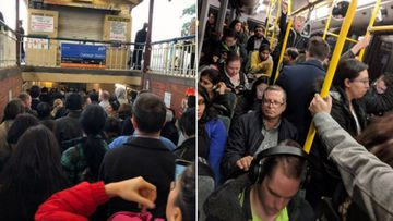 Peak hour chaos with trains delayed up to 80 minutes