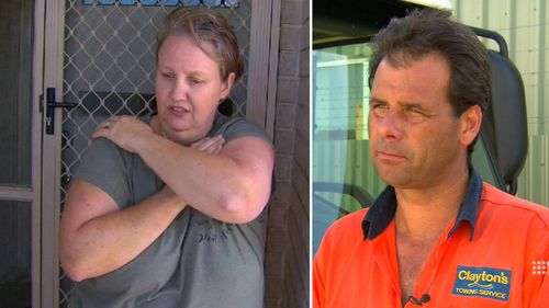 Anthea Avery (left) was trapped for an hour and a half. Anthony Belbin (right) came to her aid. (9NEWS)