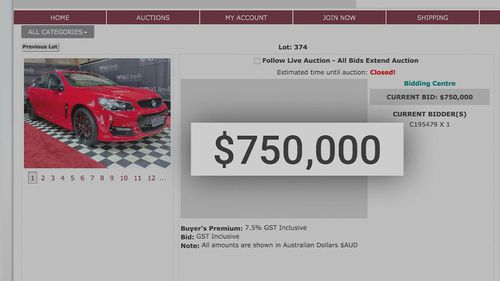 Last Holden sold for $750,000 at auction