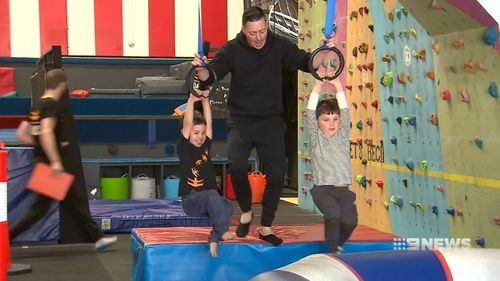Parents are being encouraged to get active with their kids. Picture: 9NEWS
