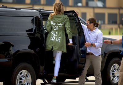 <strong>Melania Trump's green jacket, June 21</strong><br> <br> <br>