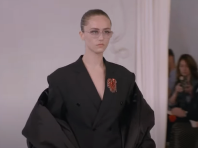 Ella Emhoff walks for Balenciaga at Paris Fashion Week 2021