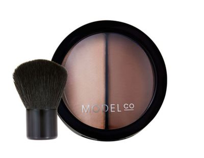 "<a href=""https://www.modelcocosmetics.com/shop/contour-2-in-1-duo"" target=""_blank"">Model Co Contour 2-In-1 Duo Powder with Kabuki Brush, $23</a>"