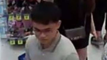 Police say the man followed a woman down an aisle before sexually assaulting her.